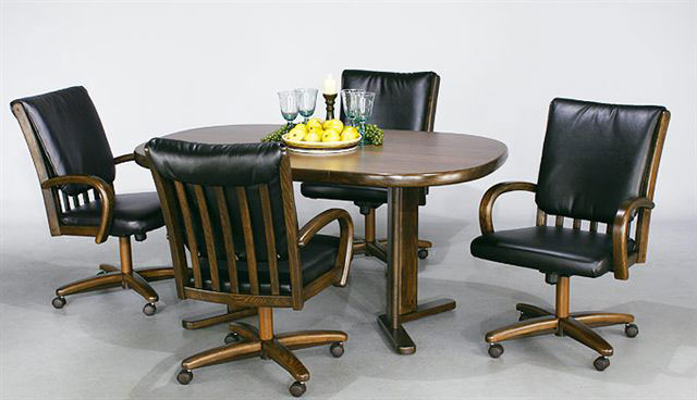 Dining Rooms Son Furniture, Leather Dining Room Chairs With Casters